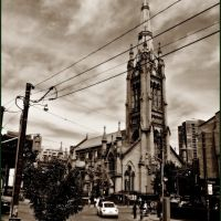 St. James Cathedral - 1853, Tower and spire at 305 ft , which is not CN Tower hight, but quite tall for a church., Торонто