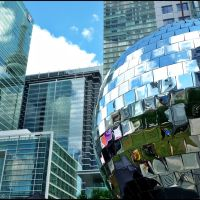 "World largest ""Disco Ball"", 8 meters dia - 1000 mirror installation. At Luminato Festival., Торонто"