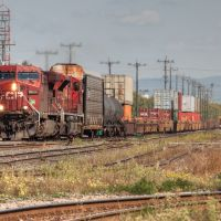 Westbound train arrives at the Depot in Thunder Bay., Тундер Бэй