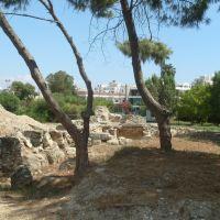 Az ókori Kition romjai, a Múzeum mögötti ásatásnál, Ларнака