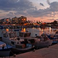 Sunset at Larnaca marina, Ларнака