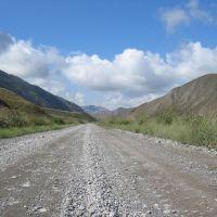 Road to Naryn river, Боконбаевское