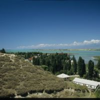Issyk-Kul from Przjevalsky Memorial, Пржевальск