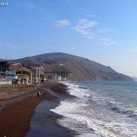 Место впадение родника Нефан-Узень в Чёрное море, пос. Рыбачье, Крым, Рыбачье