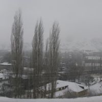 Kadamzhay, winter, view from cemetery, Пульгон