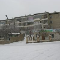 Kadamzhay, winter, near marketplace, Пульгон