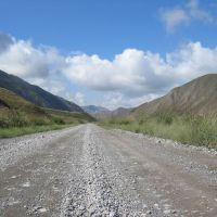 Road to Naryn river, Ат-Баши