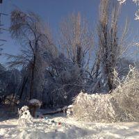 Талдыкорган, 9 площадка. Последствия снегопада 04.12.2010, Сары-Булак