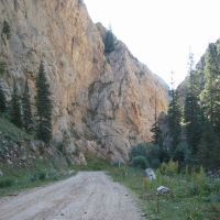 Entrance to Kurtka river canyon, Суусамыр