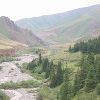 Up to Kara-Keche pass, Базар-Курган