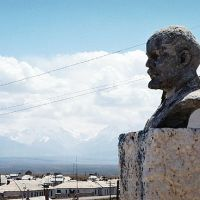 LENIN monument in Sary Tash, Сары-Таш