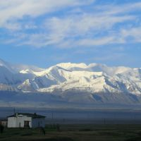 the Pamirs with Alay Mountains in the morning, Сары-Таш