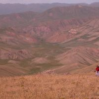 The view towards the Jumgal River (3300m), Сопу-Коргон