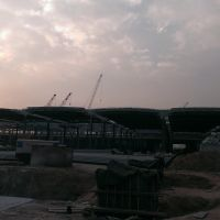 建設中的蘭州西站 Lanzhou West Railway Station Under Construction, Ланьчжоу