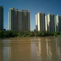 从渡轮上看黄河南岸, Ланьчжоу