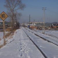 被积雪覆盖的废弃铁路, Аншань