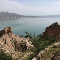 白塔寺前看刘家峡湖, Венчоу