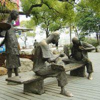 杭州西湖边的铜像雕塑, Ханчоу