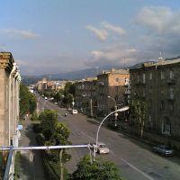 Tigran Mets street, view towards the city square, Ванадзор