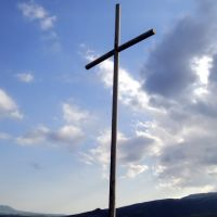 Hrazdan, cross on mount, Раздан