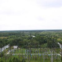 Вид на Холодный канал с крыши Березовской ГРЭС/View of Cold Canal, Белоозерск