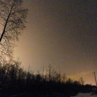 Северное небо с засветкой 4.01.2011 г., Домачево