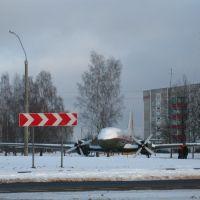 Biahomĺ IL-14 plane near the central crossroads, Бегомль