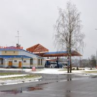 Bus station in Begoml (by www.vandrouka.by), Бегомль