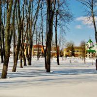 19.03.2013 12:47  Вид от дома культуры на местность возле Ильинской церкви., Бешенковичи