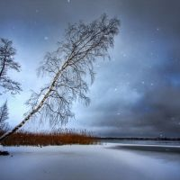 Lake Berezhie in winter, Браслав