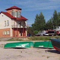 Ratownicza stacja nad brzegiem jeziora, Браслав