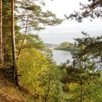 Dzvina river bank in Verknyadzvinsky park, Верхнедвинск