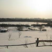Маленькое озеро в посёлке Ветрино. A small lake in the village of Vetrino, Ветрино