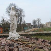 Скульптура пры касцёле., Видзы