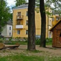 The yard at Kanatnaja (Dzimitrava) street in Viciebsk, Витебск