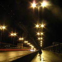The bridge over Dźvina in Viciebsk at night, Витебск