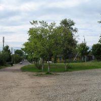 The crossroad of Grybajedava & Kujbyšava streets in Pieskavacik district in Viciebsk, Витебск
