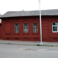 The red house near Vićba river on Baŭmana street in Viciebsk, Витебск