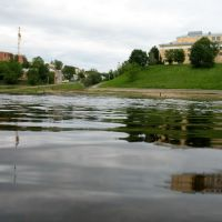 Dźvina river in Viciebsk. View to the east bank, Витебск
