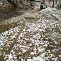 The broken path near Dunaj streem in Viciebsk, Витебск