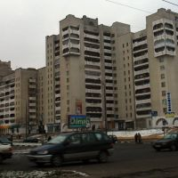 The house in late soviet urban architecture style in Viciebsk, Витебск