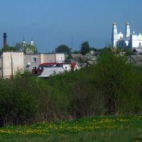 Hlybokaje from the road to Polack, Глубокое