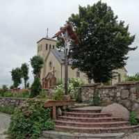catholic church in Dokšycy /  kaścioł u Dokšycach, Докшицы