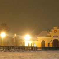 Railway station in Liepieĺ. Лепель, Лепель