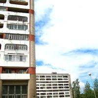 Buildings at Parkavaja street in Navapolack, Новополоцк