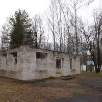 Разрушенный павильон в парке, Новополоцк