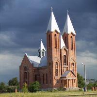 Roman Catholic cathedral in Svelahorsk, Belarus, Белицк