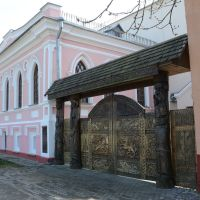 Ветковский музей народного творчества. Резные ворота Vetka museum of peoples creative work. Carved gate, Ветка