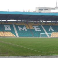 "the ""Tsentralny"" Stadium in Homel, Гомель"