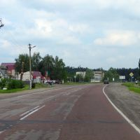 СТО и выезд на трассу Кобрин-Гомель, Житковичи